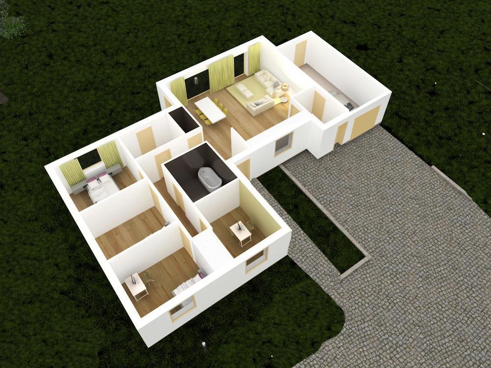 07-plan 3D maison RDC