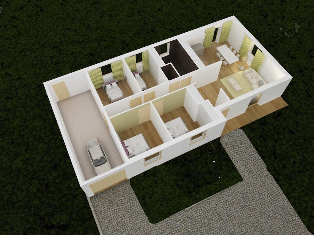 03-plan 3D axo RDC