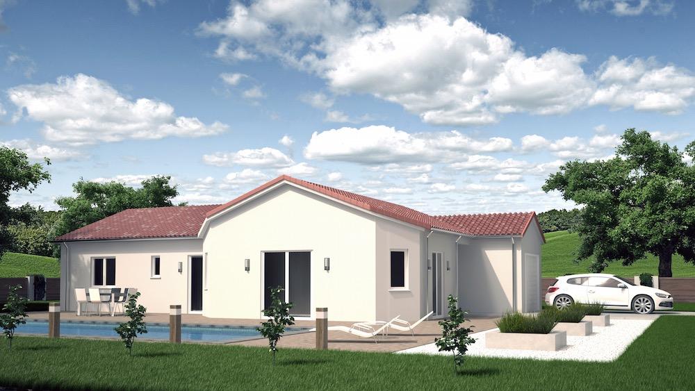 Maison id ale pour terrain troit for Modele maison mitoyenne
