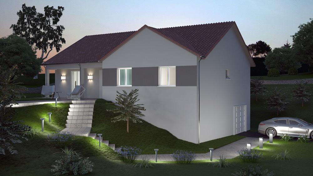 Maison neuve tage for Modele maison neuve