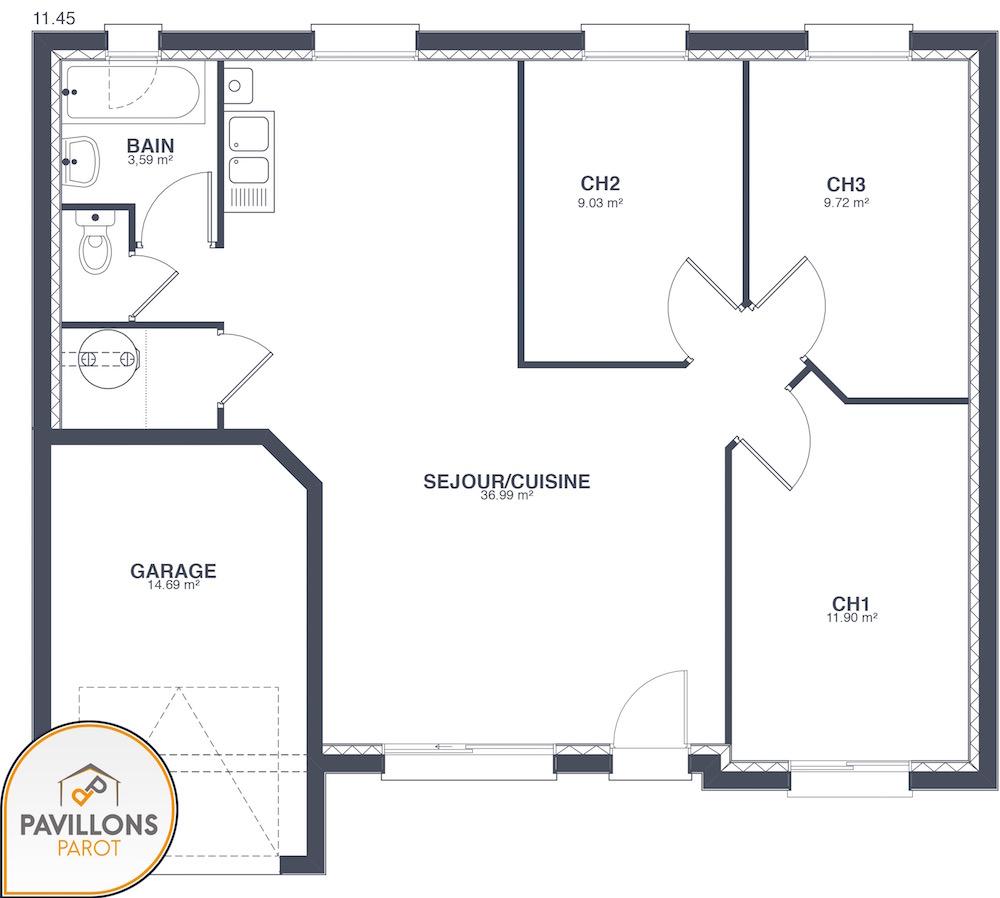 Primae 1 maison pas ch re design for Construction maison design pas chere