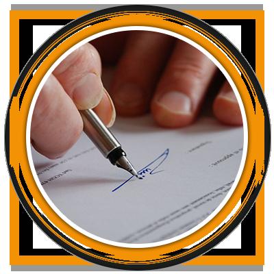 Signature du contrat - Pavillons Parot