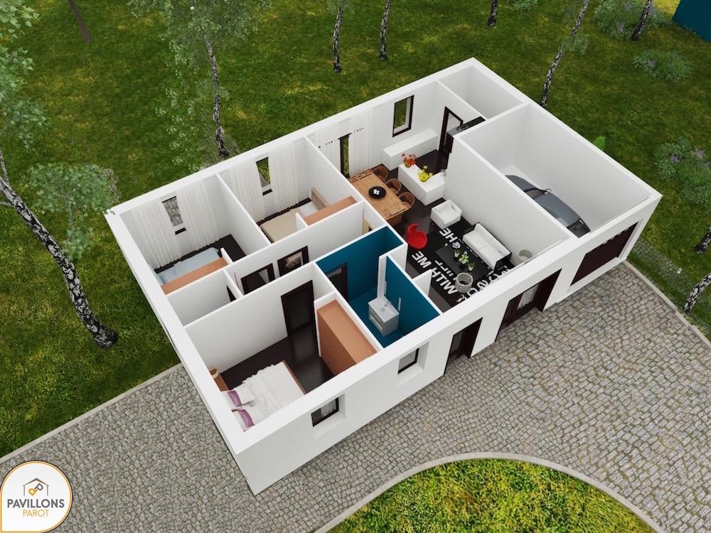 maison low cost. Black Bedroom Furniture Sets. Home Design Ideas